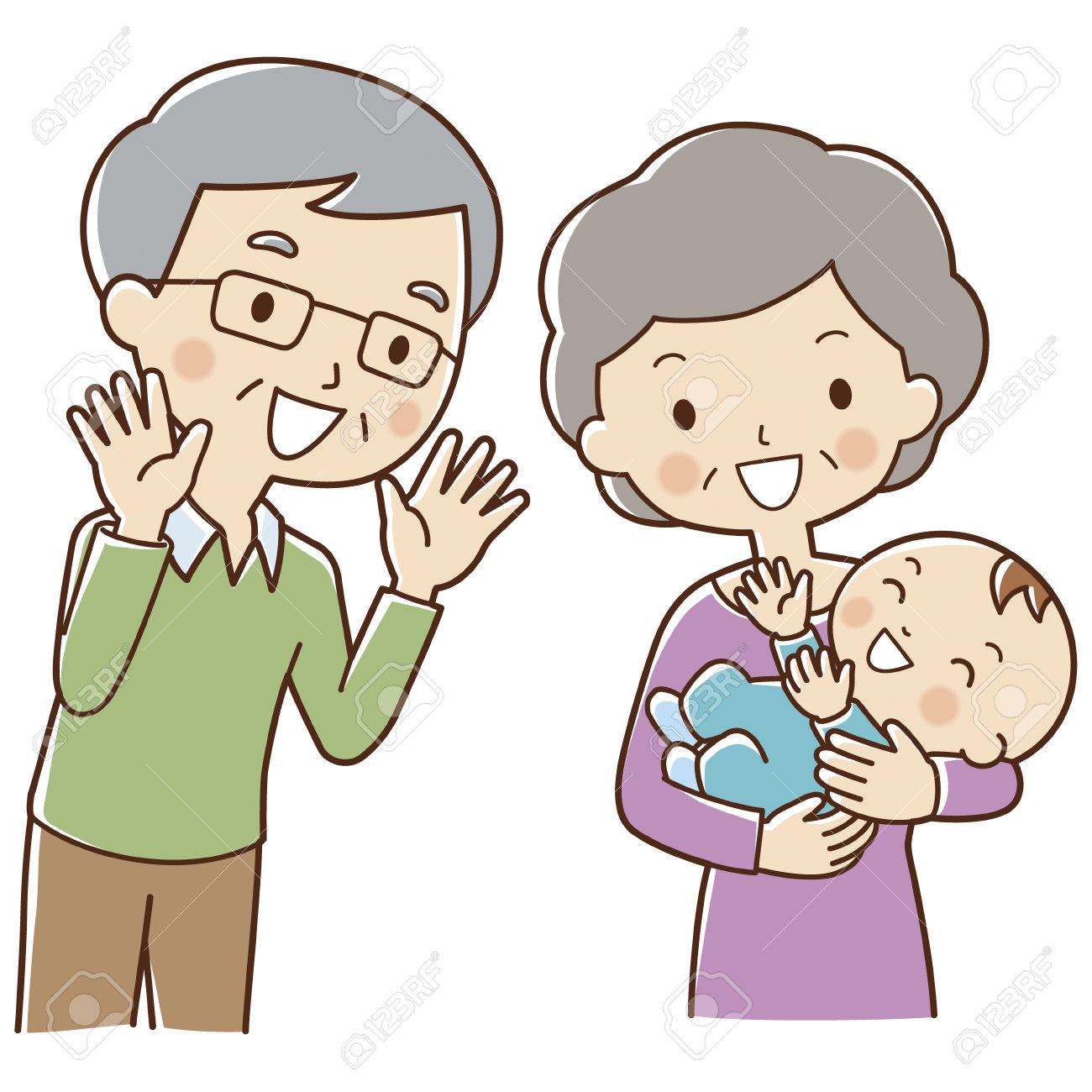 Young clipart grandparent child. Grandma and grandpa free