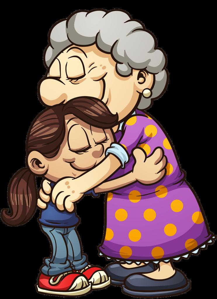 Grandmother png mart. Clipart boy grandma