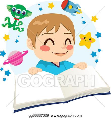 Eps illustration reading science. Adventure clipart adventure boy