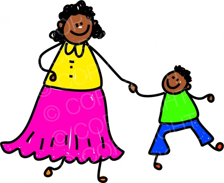 Asian clipart happy. Cartoon mother and son