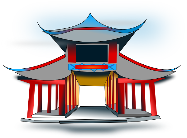 Chinese architecture clip art. Asian clipart history asian
