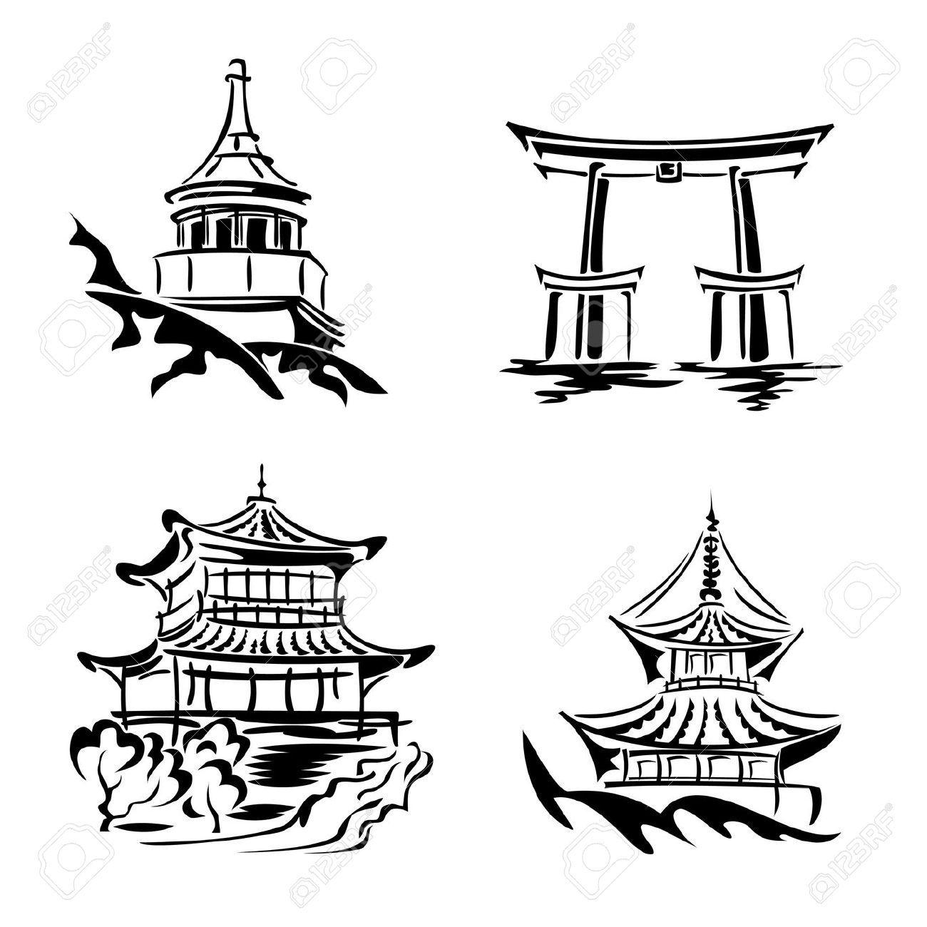 Asian clipart landmark.  a b ed