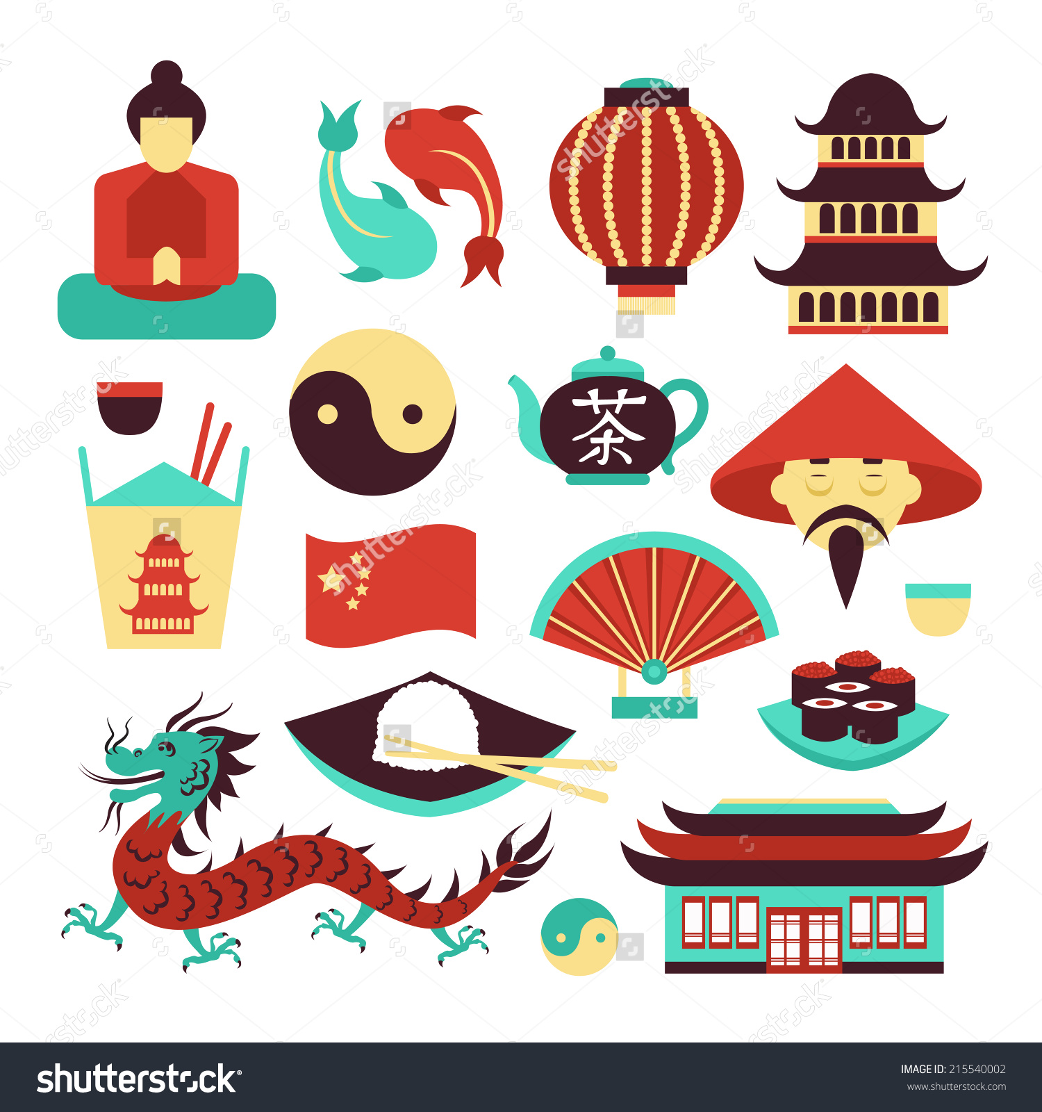 collection of culture. Asian clipart landmark