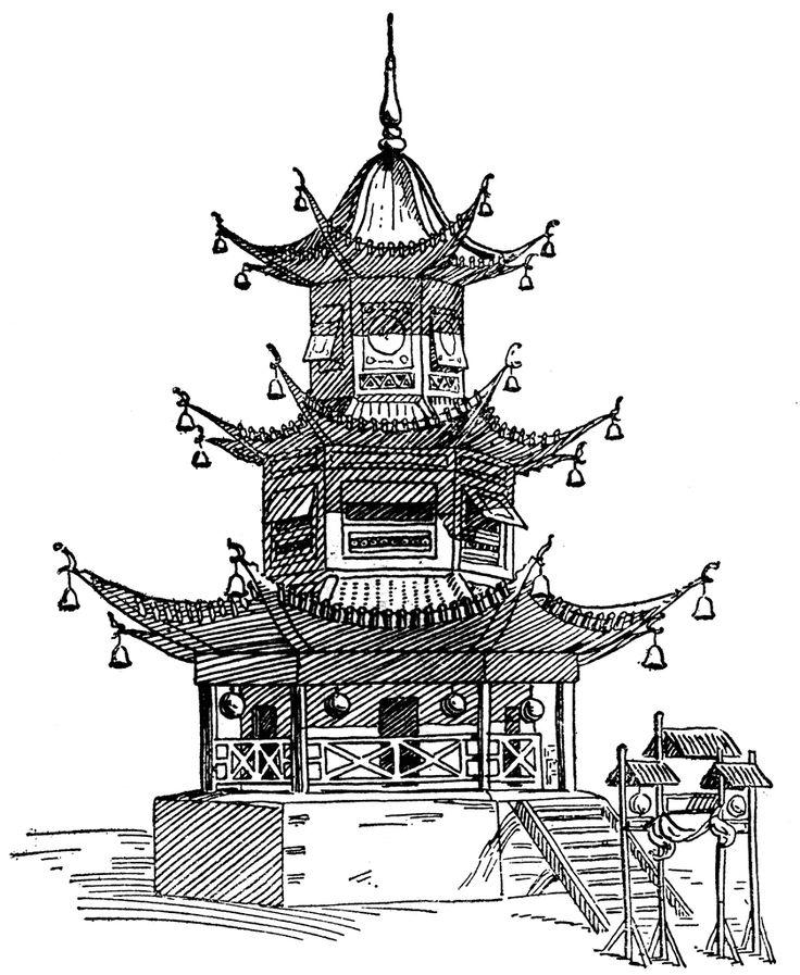 Asian clipart line.  best architecture images