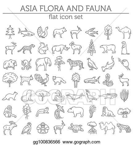 Asian clipart line. Vector illustration flat flora