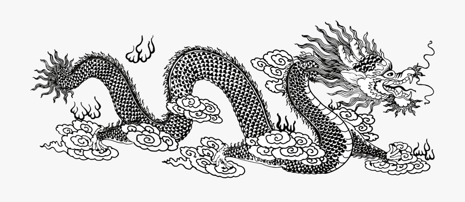 Dragon art icons png. Asian clipart line