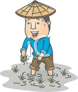 An farmer working in. Asian clipart nerd