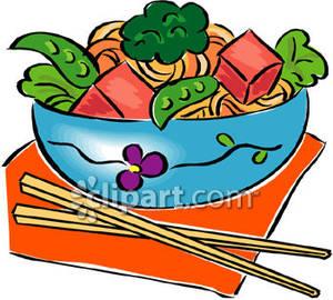 Asian clipart nerd. Salad with chopsticks royalty