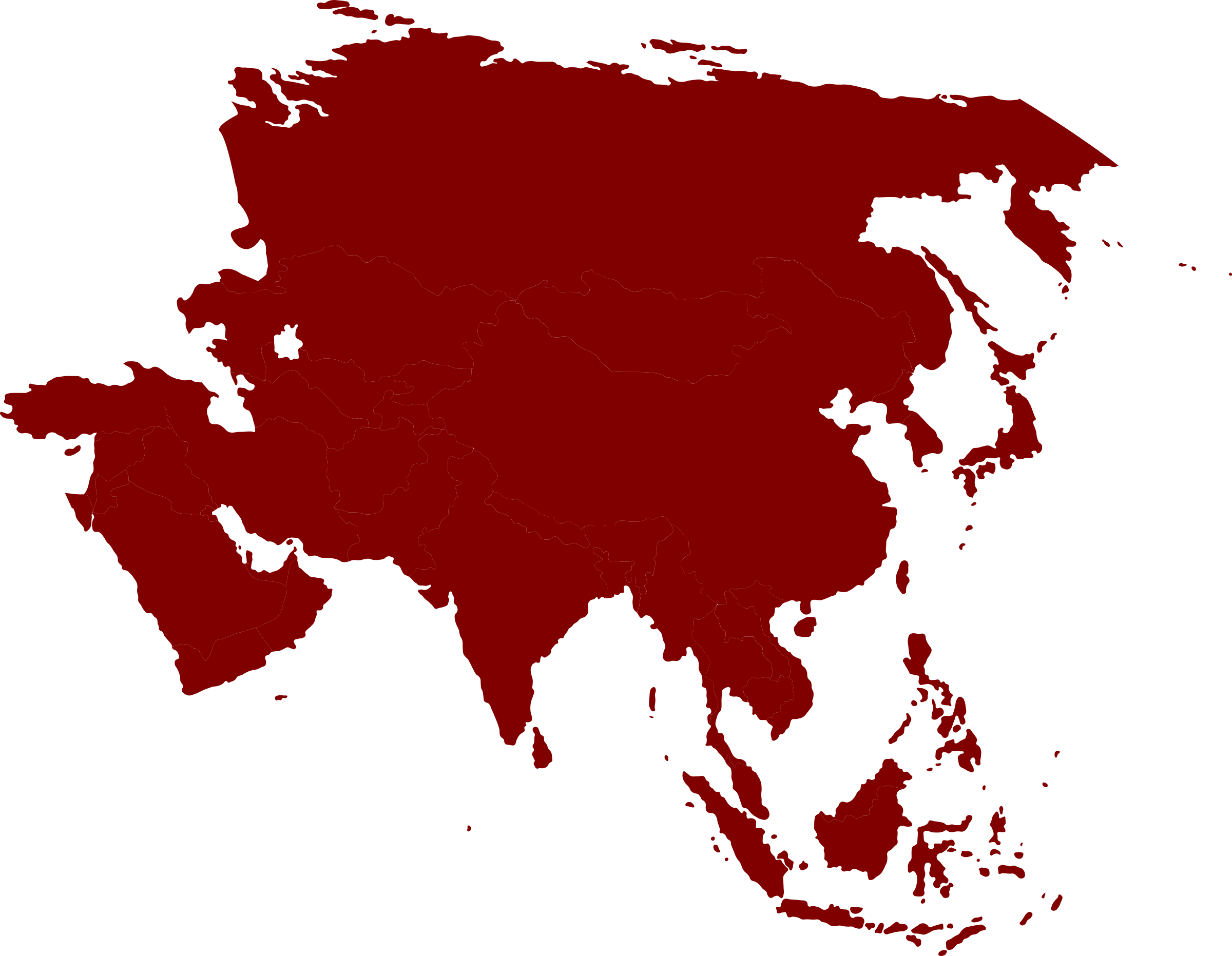 Asian big image png. Clipart map continent