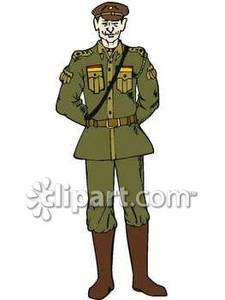 A man in military. Asian clipart soldier