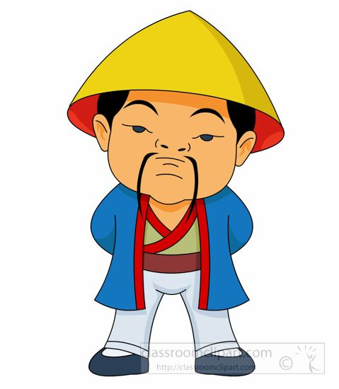 Asian clipart soldier. Man in treditional costume