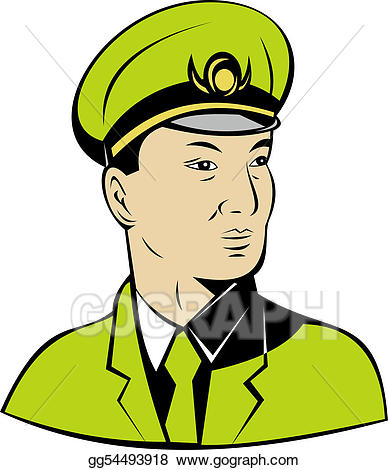 Stock illustration or chinese. Asian clipart soldier