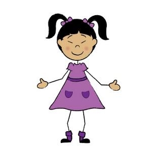 Asian clipart stick figure. Cartoon girl children image