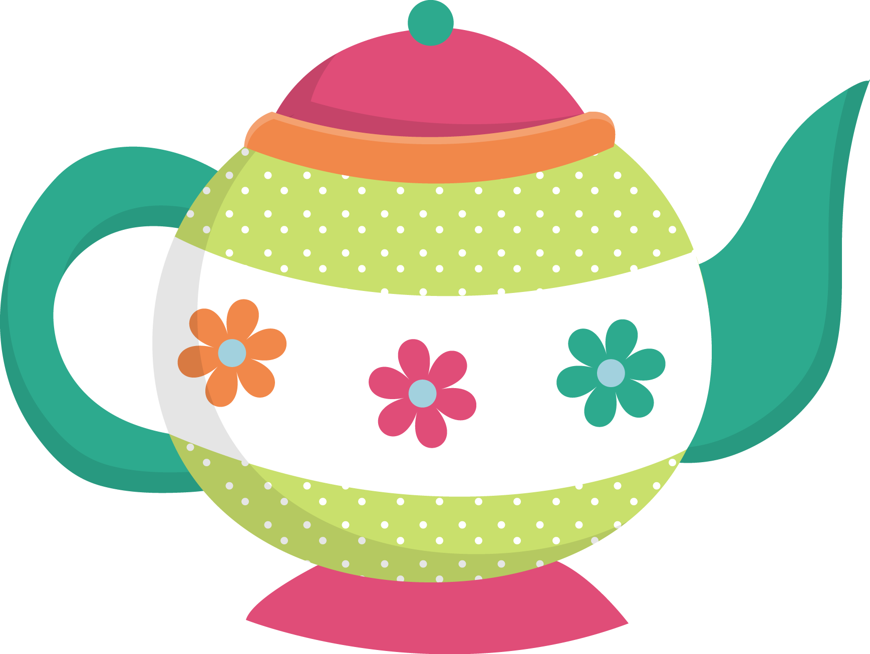 clipart cake teapot