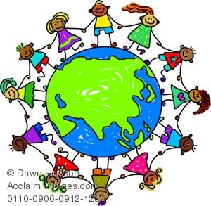 Asian clipart toddler. Illustration of a group