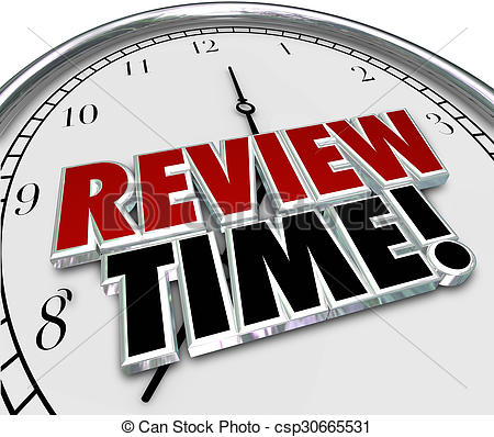 Review time clock reminder. Assessment clipart