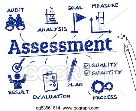 Assessment clipart assesment. Vector art concept eps