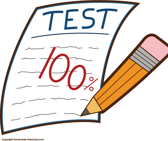 Second grade assessments st. Test clipart weekly