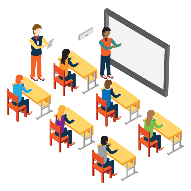 Innovative technology in education. Assessment clipart classroom