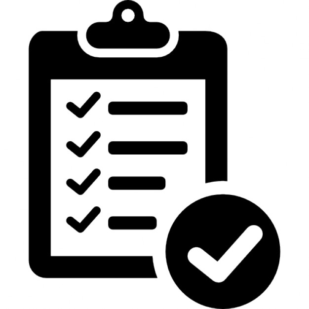 Verification of delivery list. Assessment clipart clipboard