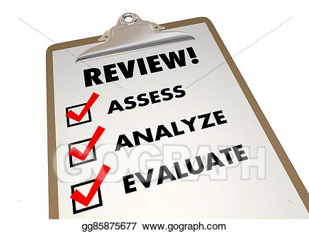 Clipboard clipart assessment. Stock illustration review checklist