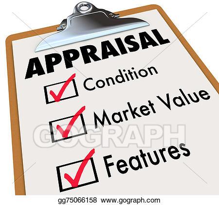 Assessment clipart clipboard. Stock illustration appraisal words
