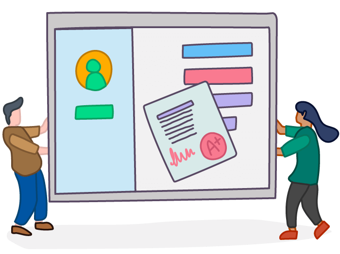 Online assessment testing software. Evaluation clipart course content
