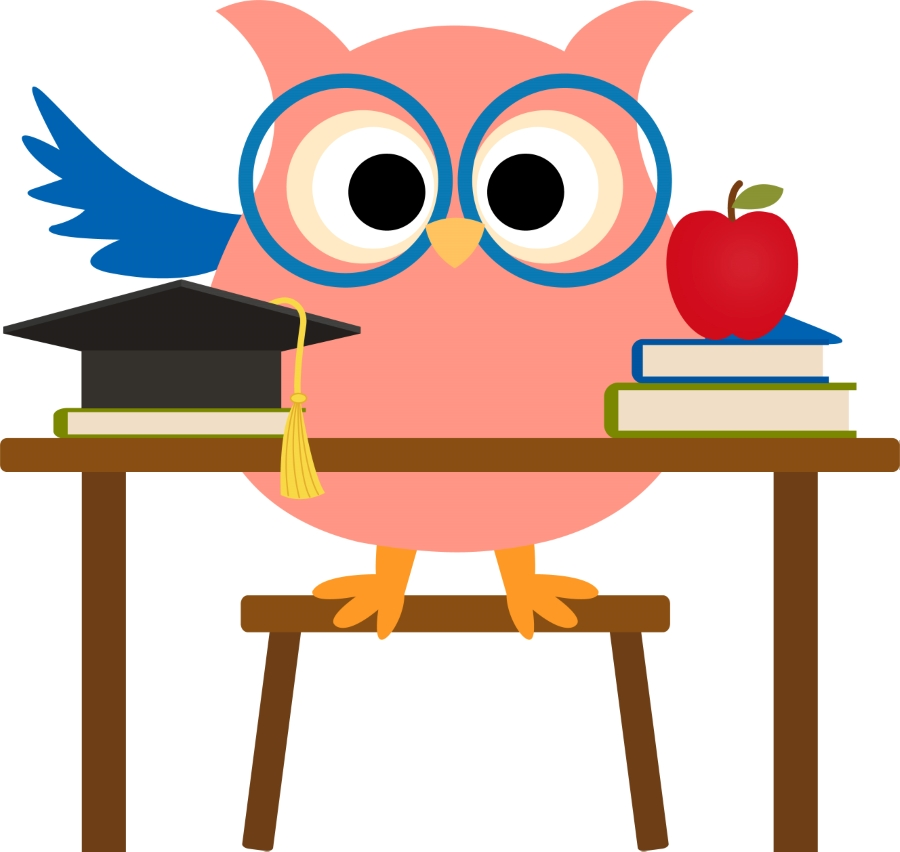 Free teacher test cliparts. Clipart owl student