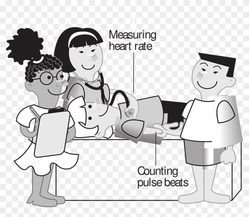Assessment clipart head to toe. Heart rate pulse beats