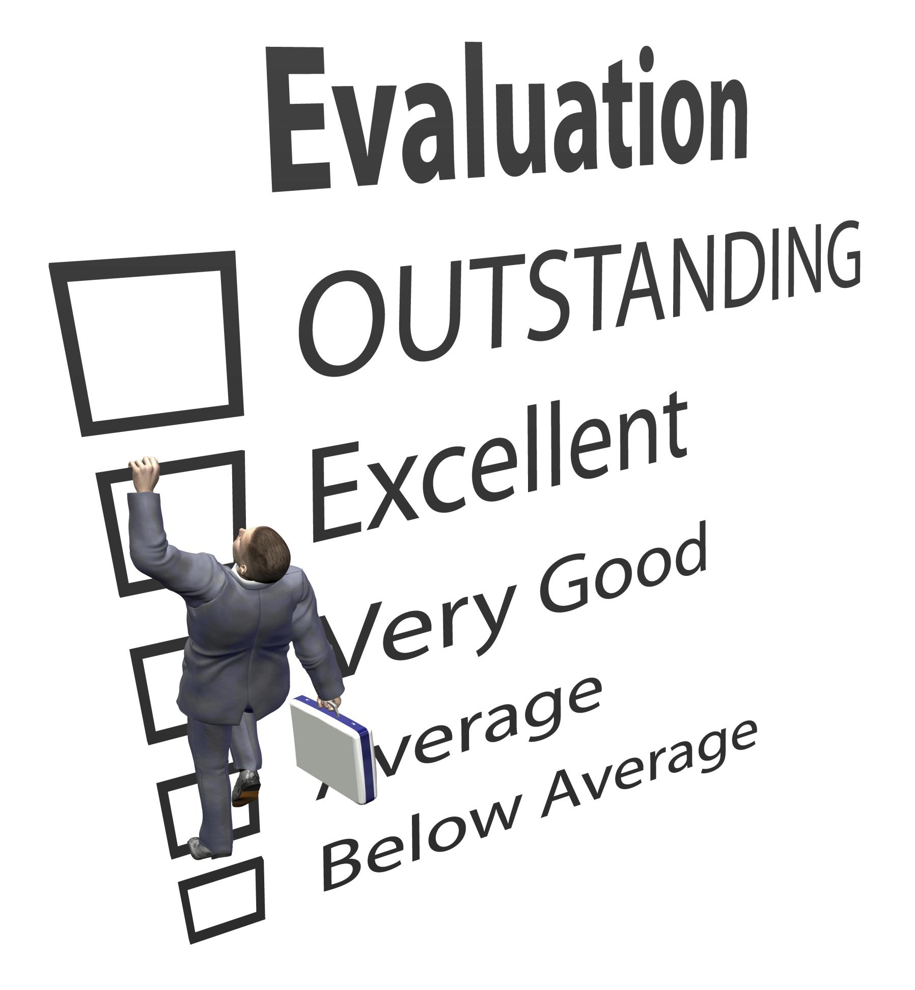 Evaluation for presentations clip. Assessment clipart performance assessment