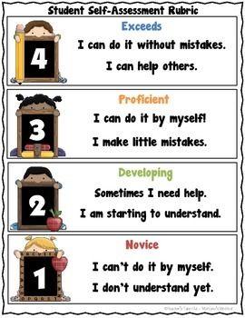 Assessment clipart self assessment. Student rubric freebie rubrics