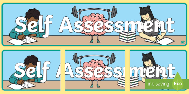 Assessment clipart self assessment. Display banner board header
