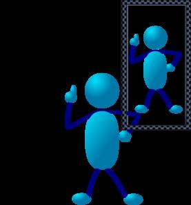 Blue stick man clip. Assessment clipart self assessment