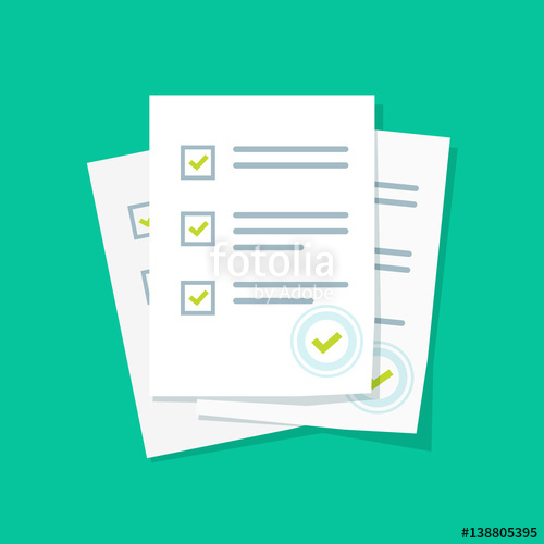 Or exam form paper. Assessment clipart survey
