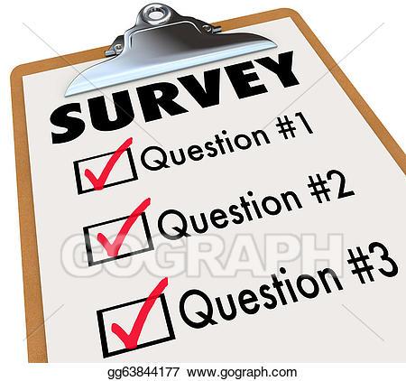 Stock illustrations word checklist. Assessment clipart survey