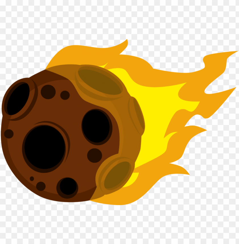 Meteor png image with. Asteroid clipart