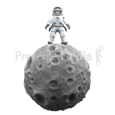 Asteroid clipart animated. Astronaut on presentation great