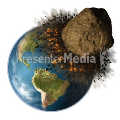 Earth hit by presentation. Asteroid clipart asteriod
