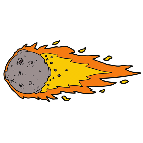 Asteroid clipart astroid. E s l shares
