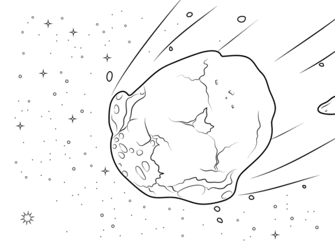 Asteroid clipart black and white. Pencil in color