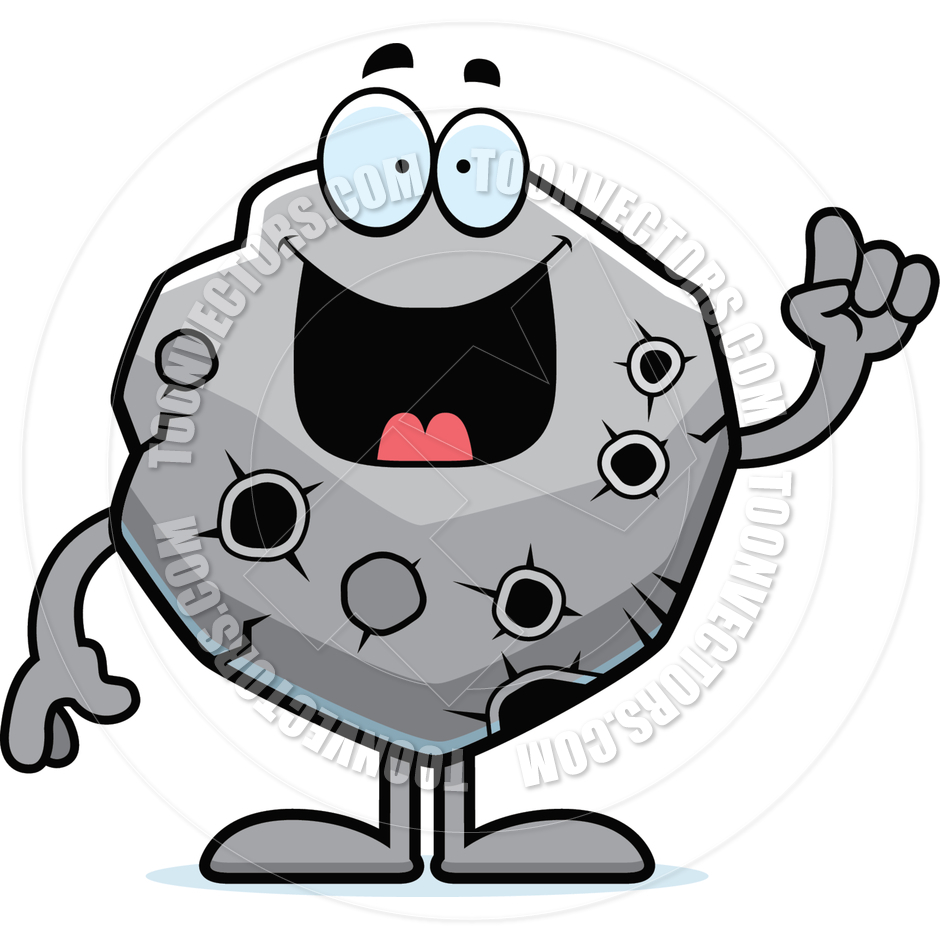 Cartoon idea by cory. Asteroid clipart black and white