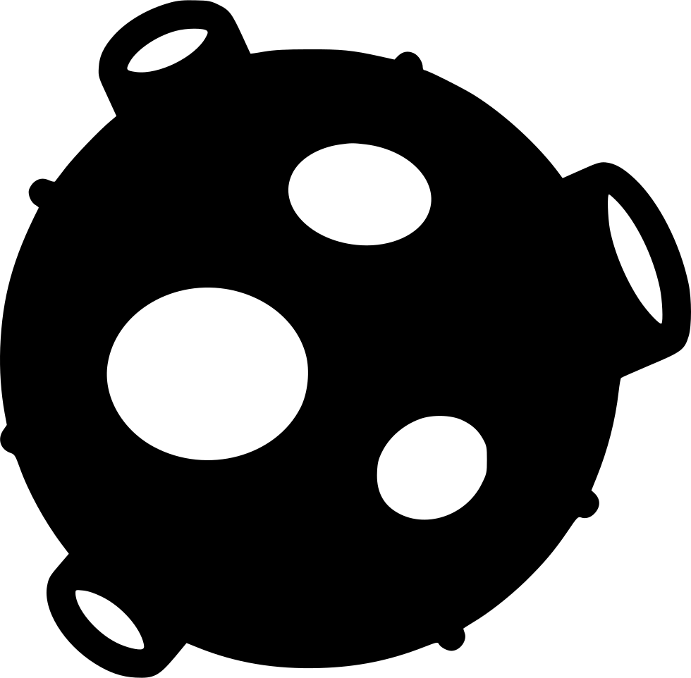 Svg png icon free. Asteroid clipart bold