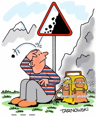 Falling rock cartoons and. Asteroid clipart boulder rolling