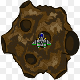 Sprite clip art png. Asteroid clipart brown