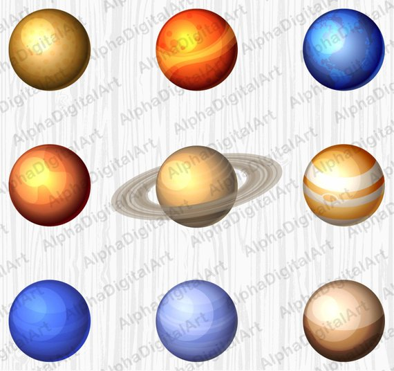 solar system planets. Asteroid clipart comet star
