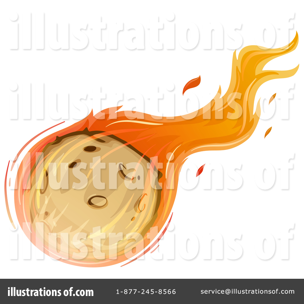 Comet clipart. Illustration by graphics rf
