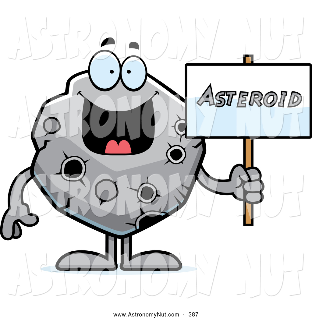 Asteroid clipart cute. Royalty free stock astronomy
