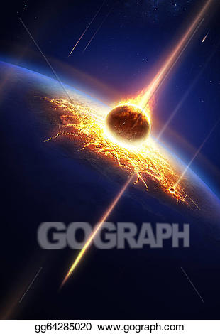 Stock illustration earth in. Asteroid clipart draw