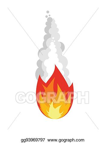 Asteroid clipart fire. Vector art meteorite isolated
