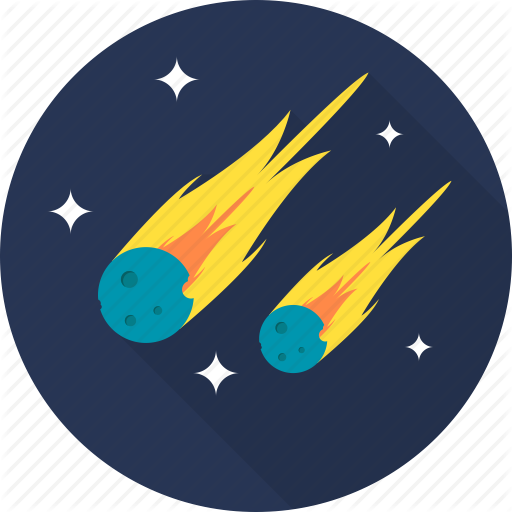 Asteroid clipart fire. Space by graphiqa stock